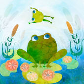 Froggy Leap Canvas Wall Art