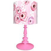 Oopsy Daisy Polka Dots and Pink Roses Lamp