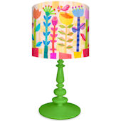 Oopsy Daisy Spring Jazz Lamp Shade and Base