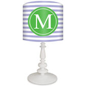 Oopsy Daisy Striped Monogram Green & Lavender Lamp