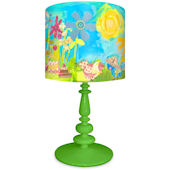 Oopsy Daisy Summer Birdies Lamp Shade and Base