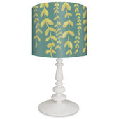 Oopsy Daisy Vines on Blue Lamp Shade and Base