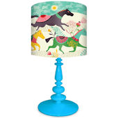 Oopsy Daisy Wild Horses Lamp Shade and Base