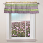 Annas Ruffle Purple Window Valance