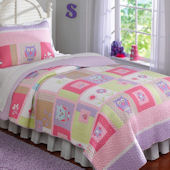 Happy Owls Quilt Set