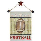 Football Hand Painted Hanging Canvas
