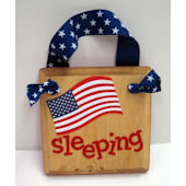 Ribbon Made American Flag Door Hanger