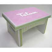 Ribbon Made Handpainted Name Sturdy Stool