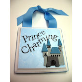 Ribbon Made Prince Charming Door Hanger