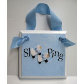 Twin Boys  Sleeping  Door Hanger