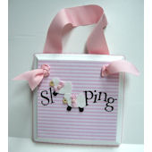 Twin Girls Sleeping  Door Hanger