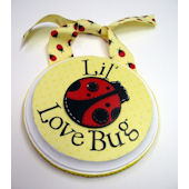 Ribbon Made Yellow Love Bug Door Hanger