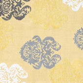 Rug Market Brocade Yellow Rug
