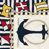 Rug Market  Nautical Anchor Rug