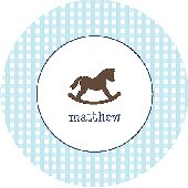 Baby Boy Rocking Horse Personalized Dinnerware