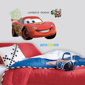 Cars 2 Lightening McQueen Personalized Sticker