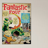 Fantastic Four Issue 1 Comic Book Cover Sticker