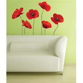 Poppies At Play Giant  Wall Stickers
