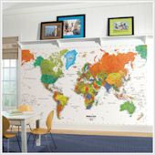 World Map XL Wall Mural