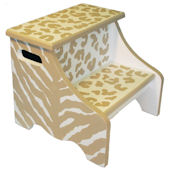 Tan Safari Step Stool