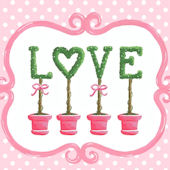 Bella Love Topiary Canvas Wall Art