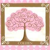 Grow Tree Pink Canvas Wall Art