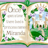 Once Upon a Time Storybook Purple Canvas Wall Art
