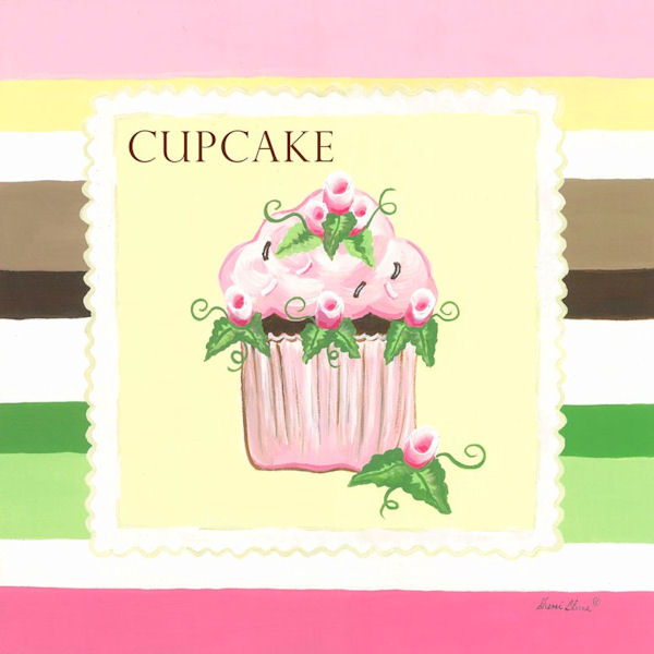 Sweet Treat Cupcake Canvas Wall Art