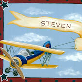 Vintage Bi Plane Canvas Wall Art