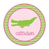 Alligator Gal Personalized Plate