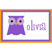 Halloween Girls Owl Placemat