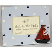 Sailboat with Dots  Picture Frame