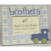 Brothers with Train  Picture Frame