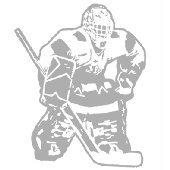 Hockey Goalie - Sudden Shadows Wall Decals