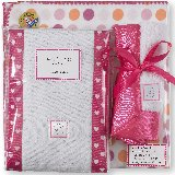 SwaddleDesigns Dots and Hearts Fuschia Set