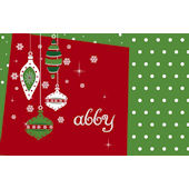 Festive Ornaments Personalized Placemat