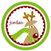 Funky Reindeer Personalized  Plate
