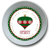 Green Ornament Personalized Bowl