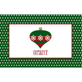 Green Ornament Personalized Placemat