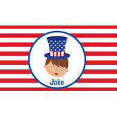 Adorable Me 4th of July Placemate Boy And Girl