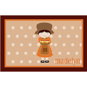 Thanksgiving Pilgrim Girl Personalized  Placemat