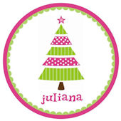 Whimsical Pink Tree Personalized Plate
