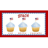 Sweet Madys Red White And Cupcake Placemat