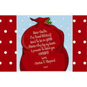 Santas Bag Personalized Placemat