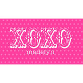 Valentine XOXO Pink Placemat