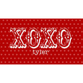 Valentine XOXO Red Placemat