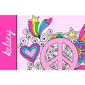Sweet Madys Peace And Love Placemat