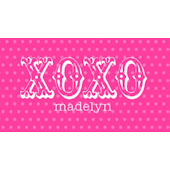 Sweet Madys XOXO Pink Placemat