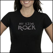 My Kids Rock Bling Tee