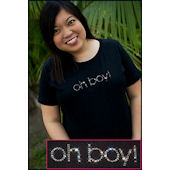 Twinkling Tees Oh Boy  Maternity Tee